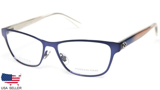 186207350ac NEW GUCCI GG 4259 VO2 BLUE EYEGLASSES GLASSES FRAME 52-15-140 B34mm Italy