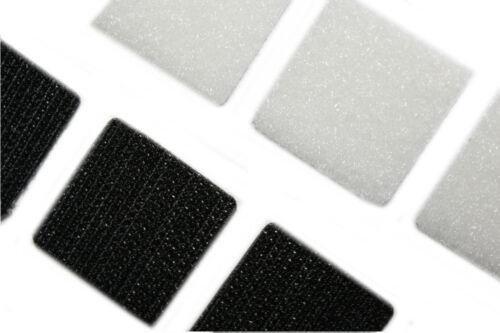 schwarz Klettquadrate 20 Stk weiß selbstklebend 25mm dalipo