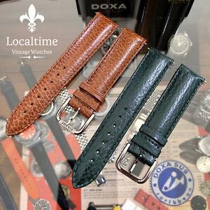 20-18mm-Original-TISSOT-Swiss-Vintage-NOS-Leather-Watch-Strap-amp-Buckle-90-115mm