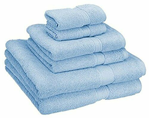 Superior Premium 900 GSM Luxury Bathroom 6-Piece Towel Set, Blau