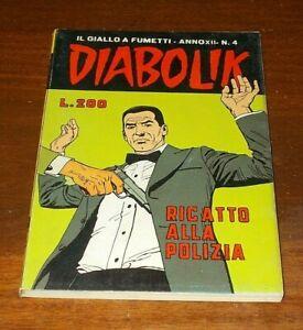 DIABOLIK Numero 4 ANNO XII 1973 ORIGINALE - MAGAZZINO !!