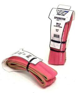 2-PACK Vee Rubber Speedster Folding BMX Tire 18x1.0 110psi Pink PAIR