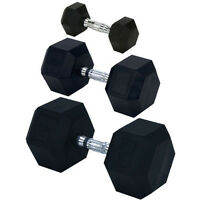 Champion Barbell Rubber Encased Solid Hex Dumbbell - 50lb (sold Individually) on sale