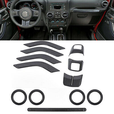 For Jeep Wrangler 2007-2010 Car Inner Door Panels Handle Decoration Covers Trims