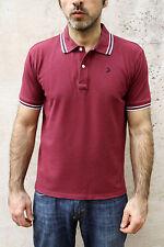 Geox da Uomo Polo T-Shirt Bordeaux Cotone Regular Fit Top a maniche corte M Medium