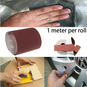 "1M 4"" Wide Sandpaper 80-800 Grit Grinding Polishing Tools Emery Cloth Roll ~"