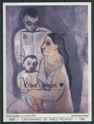 265108) Sao Tomé Und Principe Block 69a** Int. Jahr Des Kindes Gemälde Picasso Den Menschen In Ihrem TäGlichen Leben Mehr Komfort Bringen
