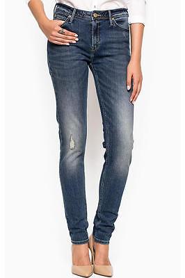 Nuovo Originale Autentica Lee Donna Sottile Skinny Jeans Denim Blu L30kdxxq W26 L31-