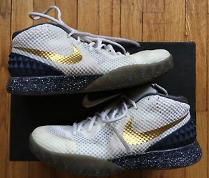 quality design ed1a4 75132 Image is loading Nike-Zoom-Kyrie-1-iD-Notre-Dame-Inspired-