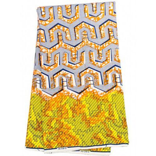 Tela africana con patrón de impresión de 1//2 yarda Ankara estilo Kitenge Elegante Cera p812