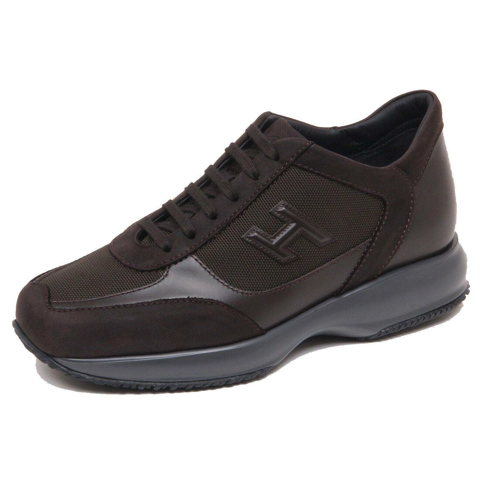F6798 scarpe da ginnastica uomo dark Marronee HOGAN NEW INTERACTIVE scarpe H 3D scarpe man