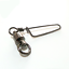 100 x Stainless Steel Fishing Ball Bearings Swivel with Black Nickle Coated Snap