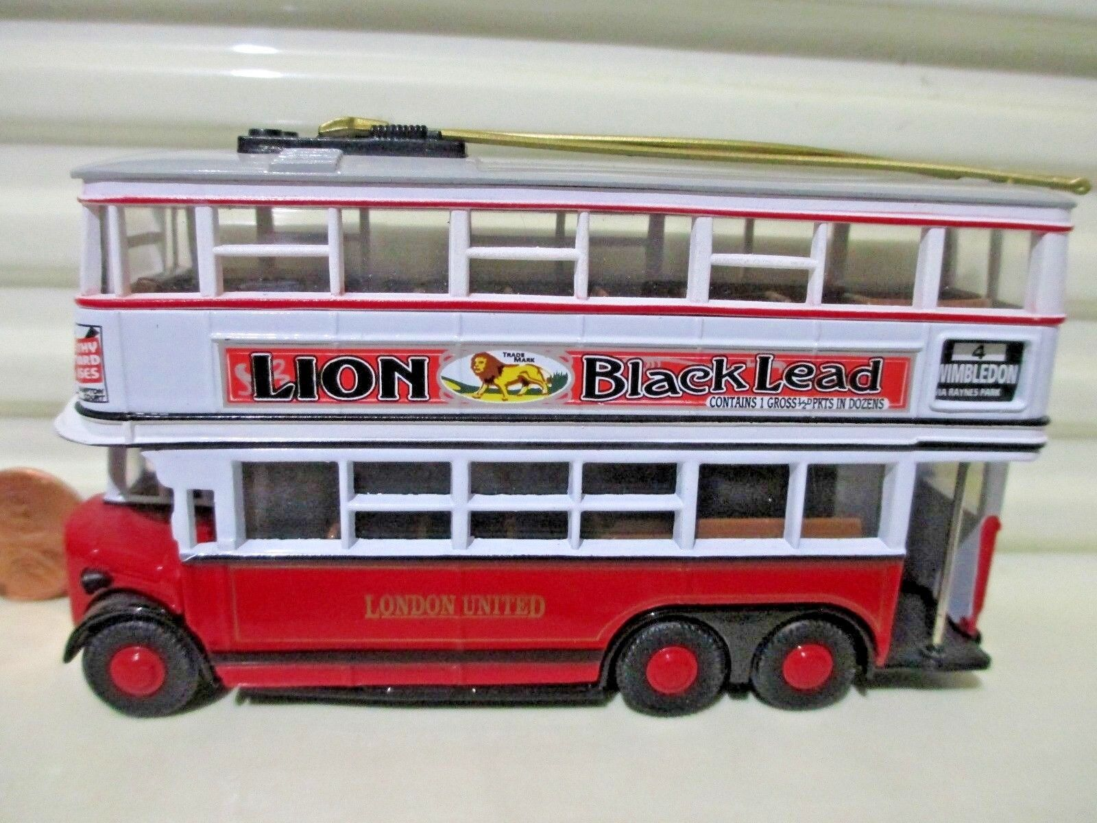 Matchbox models of yesteryear Y10 Diddler trolleybus Lion Noir Plomb Blanc Upper