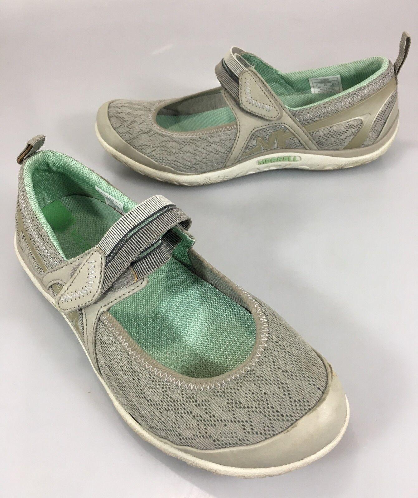 Merrell Women 7 Aluminum Enlighten Eluma Breeze Mary Jane Mesh Shoes Sneakers