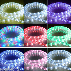 Outdoor Led Rope Lights Chasing Static Xmas Christmas Lighting Garden Home Uk Ebay