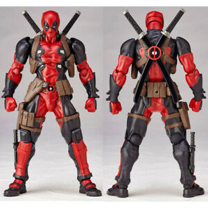 Amazing-Marvel-Revoltech-DEADPOOL-X-Men-Action-Figure-Toy-Gift-New