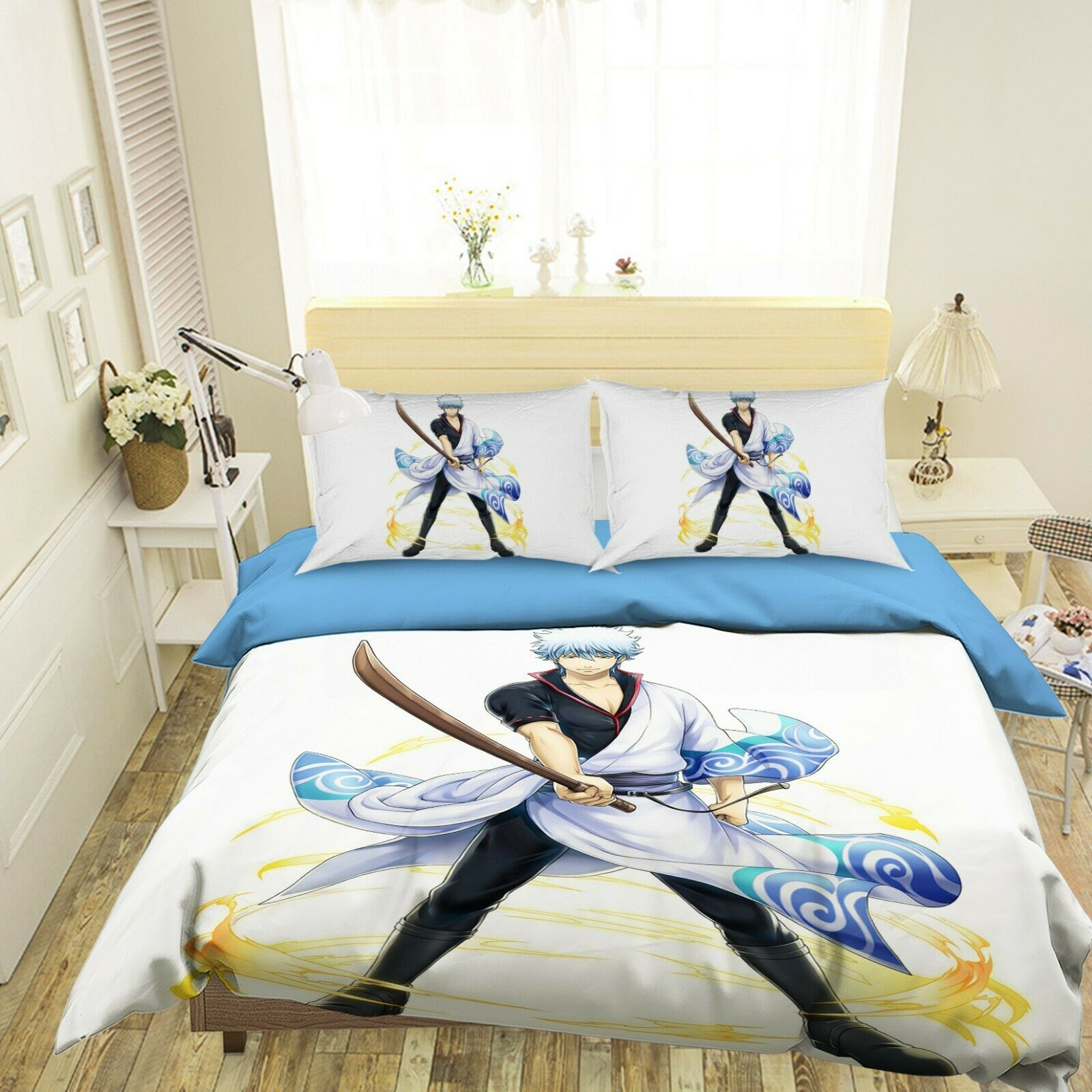 3D GinTama Warrior B052 Japan Anime Bett Pillowcases Quilt Duvet Startseite Wendy