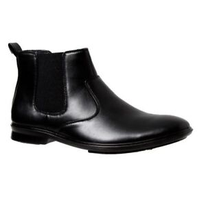 MENS-GROSBY-OTIS-BLACK-DRESS-WORK-FORMAL-DRESS-SHOES-MEN-039-S-PULL-UP-ON-WIDE-BOOTS