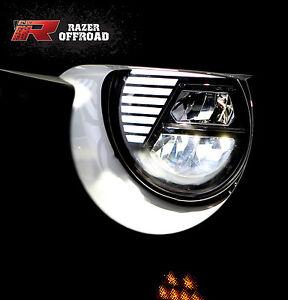 Street-Legal-Black-LED-Headlight-DRL-Hi-Lo-Beam-Cree-fit-07-18-Jeep-JK-Wrangler