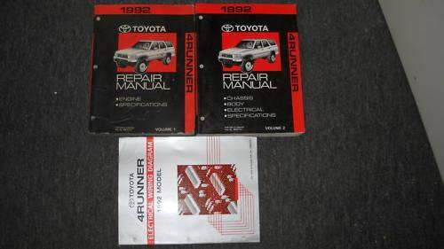 1992 Toyota 4runner 4 Runner Truck Service Shop Repair