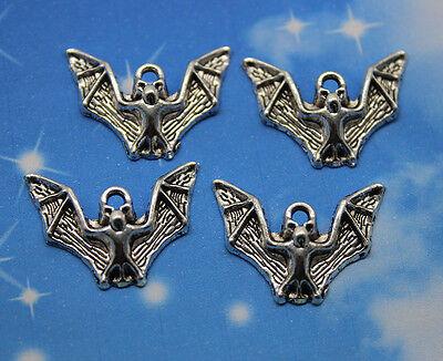 Free ship 20/60/100pcs retro style lovely bat alloy charms pendants 17 x 23mm