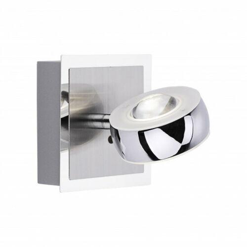 LED Wandleuchte Silber Linseneffekt Fernbedienung Farbwechsel Dimmbar 560lm