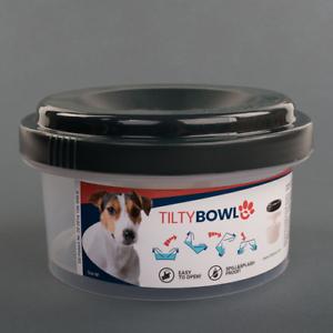 Tilty-Bowl-Groesse-M-anthrazit-Trinknapf-fuer-Hunde-und-Katzen-Auslaufsicher