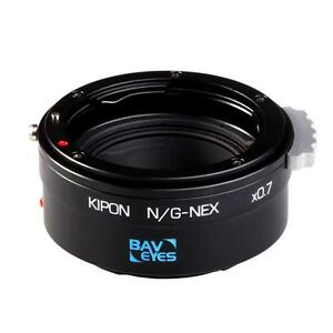 Kipon-Baveyes-Ultra-0-7x-Adapter-for-NIKON-G-lenses-on-SONY-E-FE-NEX-Camera