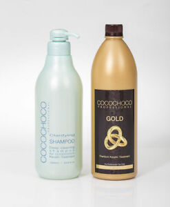 COCOCHOCO-Gold-Keratin-Hair-Treatment-1000ml-33-8oz-Clarifying-Shampoo-1000-ml