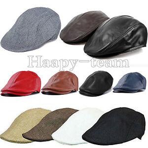 Mid Age Old Mens Warm Flat Country Tweed Baker Newsboy Golf Hat Cap ... f2755bb21ea
