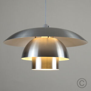 Image is loading Retro-3-Tier-Ceiling-Pendant-Light-L&-Shade- & Retro 3 Tier Ceiling Pendant Light Lamp Shade Home Lounge Living ...