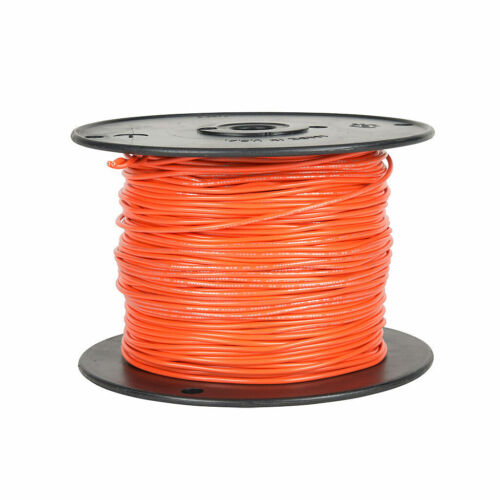 100ft 24ga 24awg Alpha 1854 Orange PVC Stranded Wire MIL-W-16878D 600V
