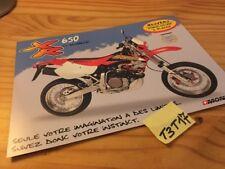Honda XR650 Monnier XR 650 prospectus brochure publicité prospekt