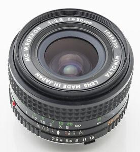 Minolta-MC-W-Rokkor-W-Rokkor-2-8-1-2-8-35mm-35-mm-55mm-Filtergewinde