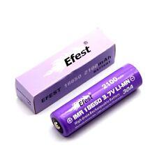 SONDERPOSTEN Efest IMR18650 2100mah 3,6V - 3.7V  (Button Top) Li-ion Akku 30A