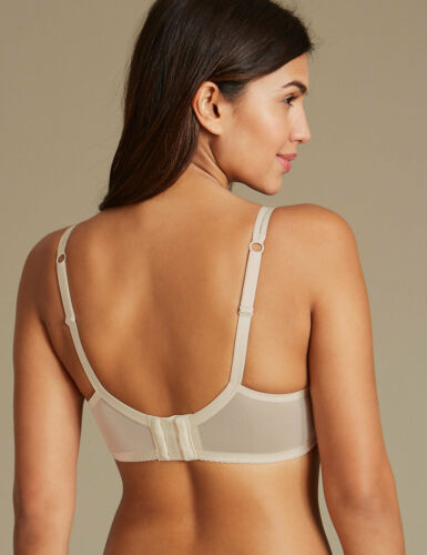 NEW MARKS /& SPENCER M/&S ARTISAN LACE HIGH APEX PADDED PLUNGE BRA IVORY 34 A B *