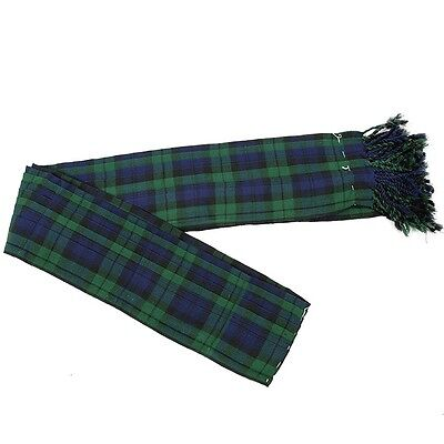 Royal Stewart  Tartan Piper Long Fly Plaid 3 1//2 yards pleated