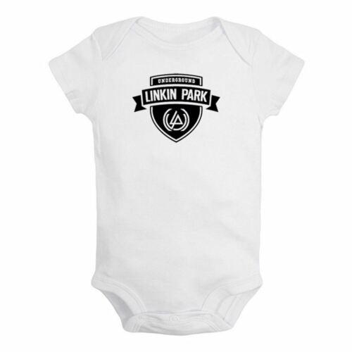 Linkin Park Underground LP Newborn Jumpsuit Baby Bodysuit Short Sleeve Romper