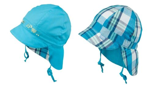 50 SUN PROTECTION Summer CAP NECK 2 in 1 REVERSIBLE 100/% Cotton boys hats UV