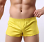 Mens Classic Pink Woven Cotton Jockey Style Boxers Shorts with Slit Side Seams