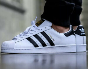 Adidas-Superstar-Shell-Toe-Men-s-Athletic-Shoes-White-Sneakers-Run-DMC