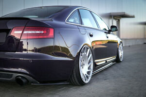 Details About Rear Side Splitters Audi A6 C6 S Line Facelift Sedan 2008 2011