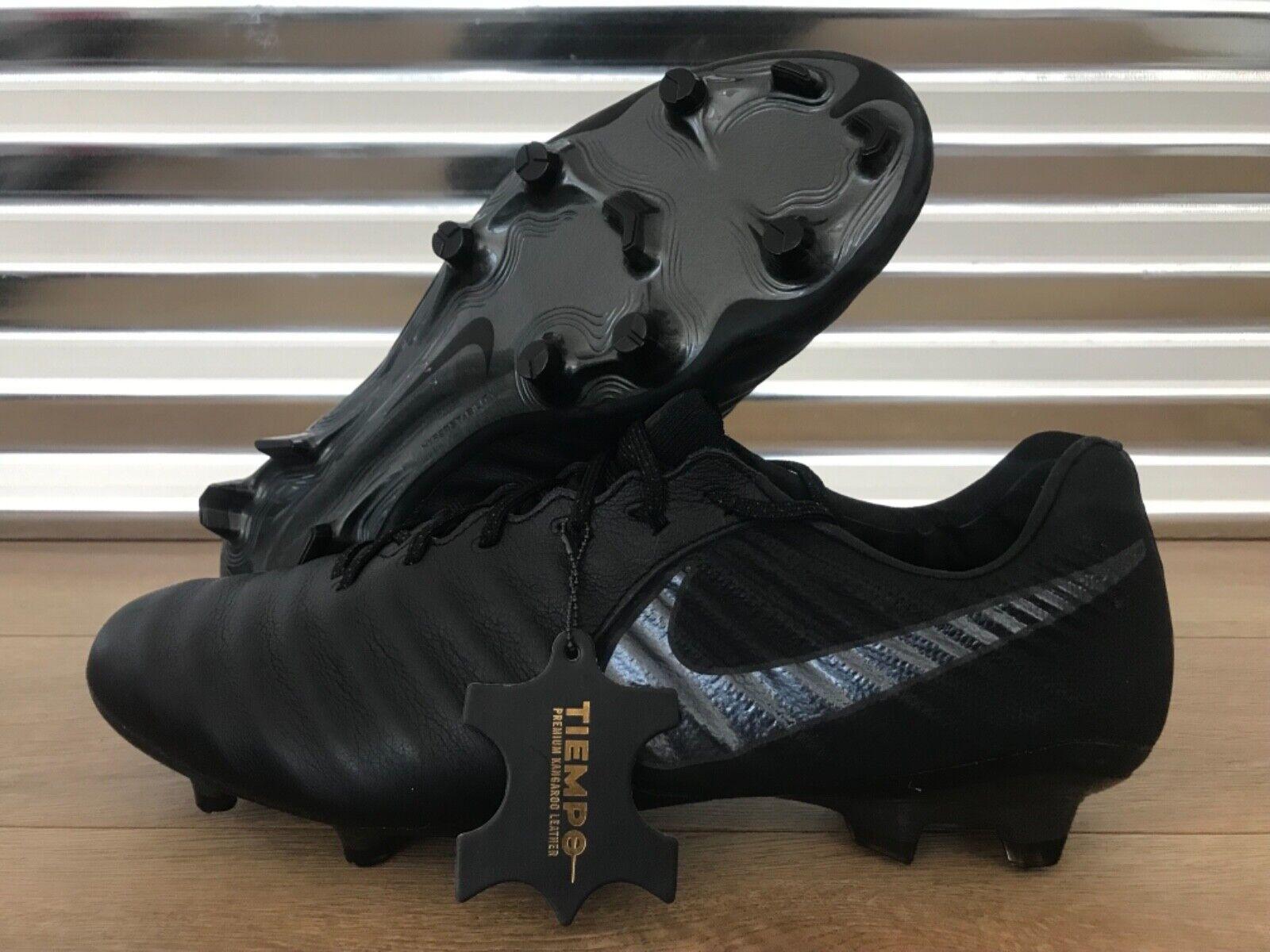 Nike tiempo legend VII 7 Elite Fg Acc Botines De Fútbol Triple Negro Tamaño (AV1906-001)