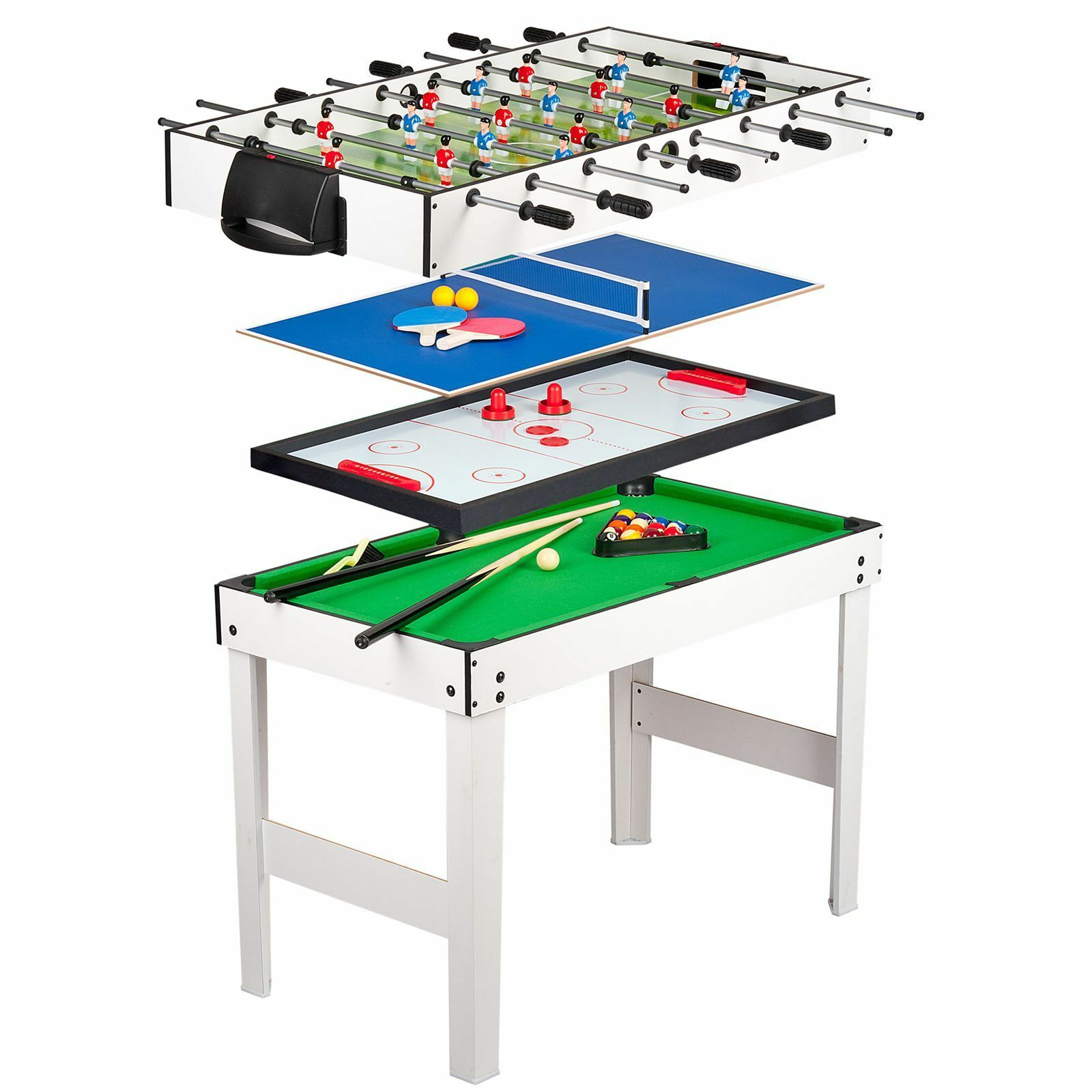 4 en 1 Juegos Niños Mesa - Piscina  Hockey  Ping Pong   Football Soccer