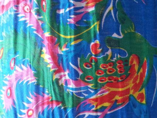 Blumen Lampenschirm Stofflampenschirm Stoff Lampe Rund 40cm Japan Blau Pink