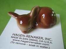 Hagen Renaker Baby Deer Sleeping Figurine Miniature 00096 FREE SHIPPING