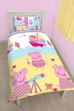 Nuevo Peppa Pig Náutica Edredón Individual Cubierta Del Edredón Juego De Cama Childrens bedroom
