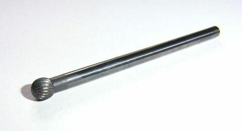 Kugelsenker Frässtift Ø 4 mm Kugelfräser Schaft 3 mm fein VHM Fräser Dremel Neu
