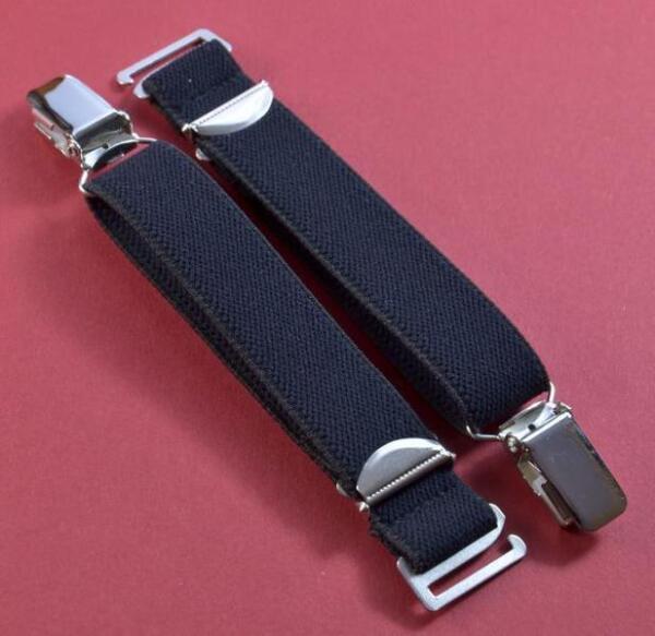 Straps, Strapsbänder 2cm breit mit Hosenträgerclip zum Anhaken