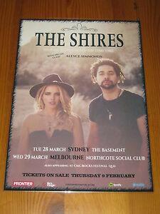 THE-SHIRES-2017-Australian-Tour-Laminated-Promo-Poster